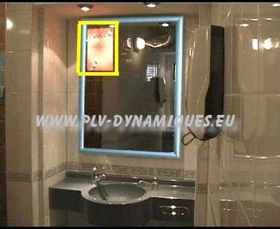 affichage dynamique - miroir magique en situation