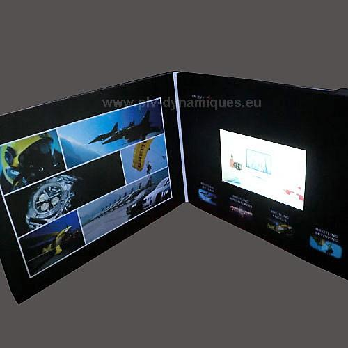 cartes publicitaires avec ecran lcd vidéo intégrée