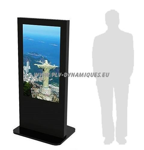Borne multim dia et totem affichage dynamique plv for Ecran publicitaire exterieur
