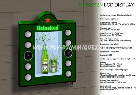 vitrine publicitaire avec écran lcd video - affichage publicitaire