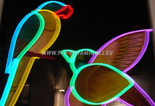 enseigne en guirlande luminesue par fil électroluminescent