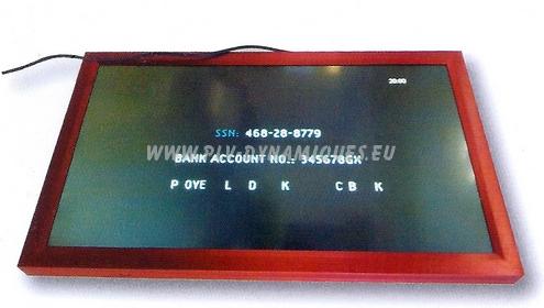 Ecrans Lcd vidéo-player à cadre de couleur