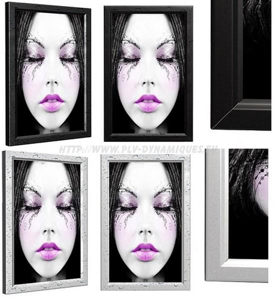 Cadre led modèle «Boxed 7 étanche» : affichage extérieur