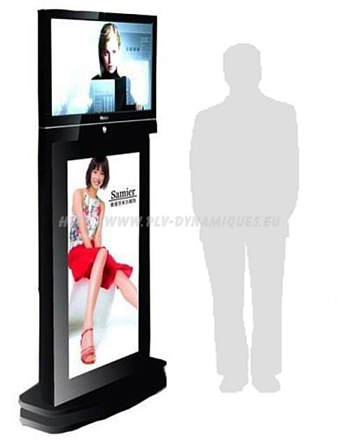 double-affichage-ecran-lcd-totem affichage dynamique numérique
