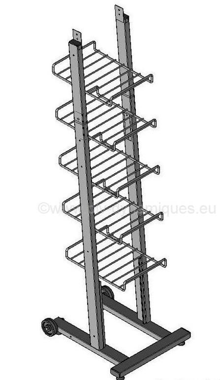 Présentoire métallique modulable pour publcité sur point de vente (PDV)