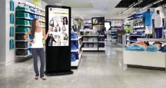 Totem vidéo tactile à technologie infrarouge