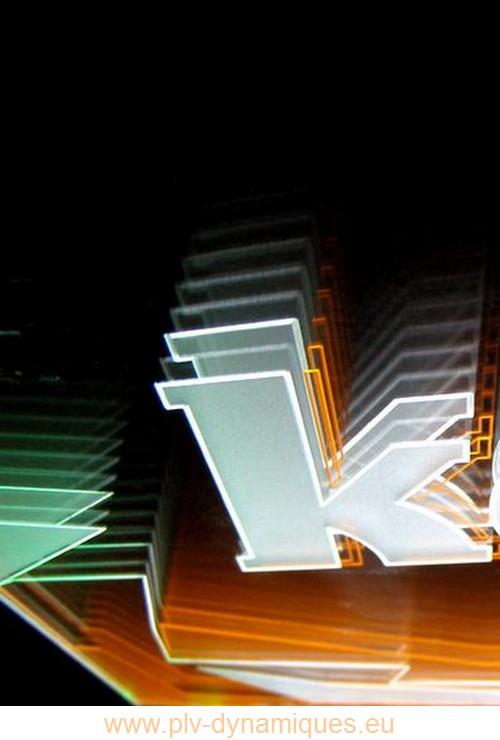 panneau publicitaire - affichage lumineux par éclairage tangentiel
