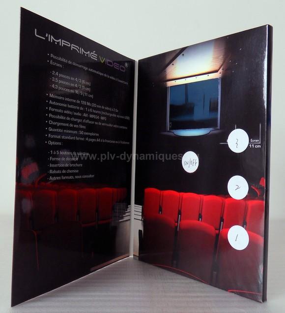 carte publicitaire avec Ecran vidéo intégré