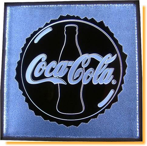 affichage lumineux - logo d'une célèbre boissson