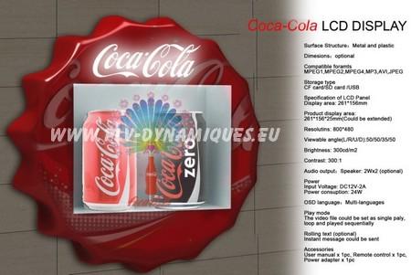 vitrine publicitaire avec ecran lcd video - affichage publicitaire