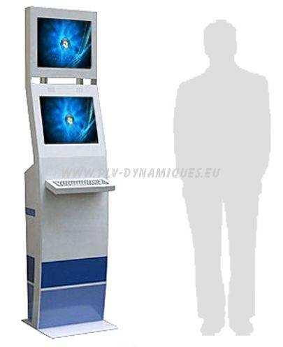 borne interactive à double écran