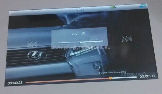 carte vidéo publicitaire écran lcd