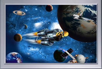 image lenticulaire - vue de l'espace