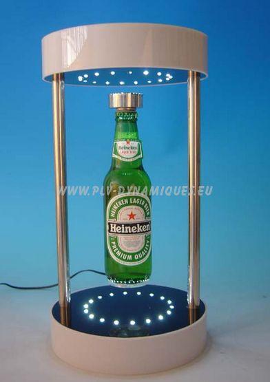 Présentoir magnétique avec éclairage par leds