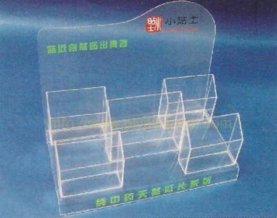 présentoir en acrylique avec distributeurs