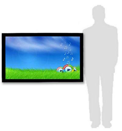 affichage publicitaire -dalle interactive à l'échelle