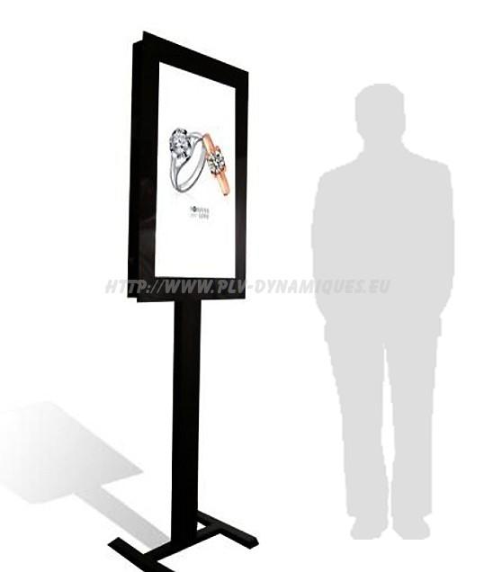 ecran lcd vega open frame sur pied - affichage dynamique numérique - écran dynamique