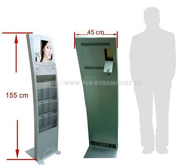ecran-lcd-vega-open-frame-totem-avec-distributeur - affichage dynamique numérique - écran dynamique