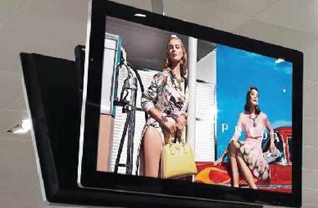 écran plv publicitaire numérique sous Android dans un magasin