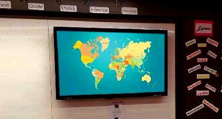 écran tactile interactif - Moniteur tactile interactif en fonction