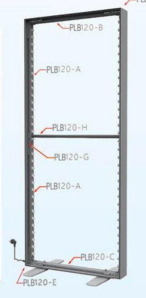 cadre grand format textile - vue du cadre sans le revêtement en polyester