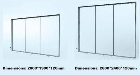 cadre grand format textile - différents types de configuration