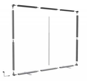 cadre grand format textile - schéma de montage du cadre